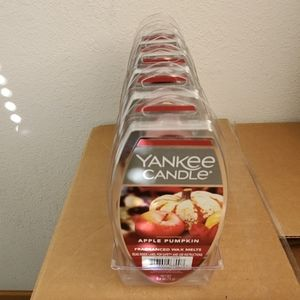 Lot of 6 Yankee Candle Apple Pumpkin Wax Melts
